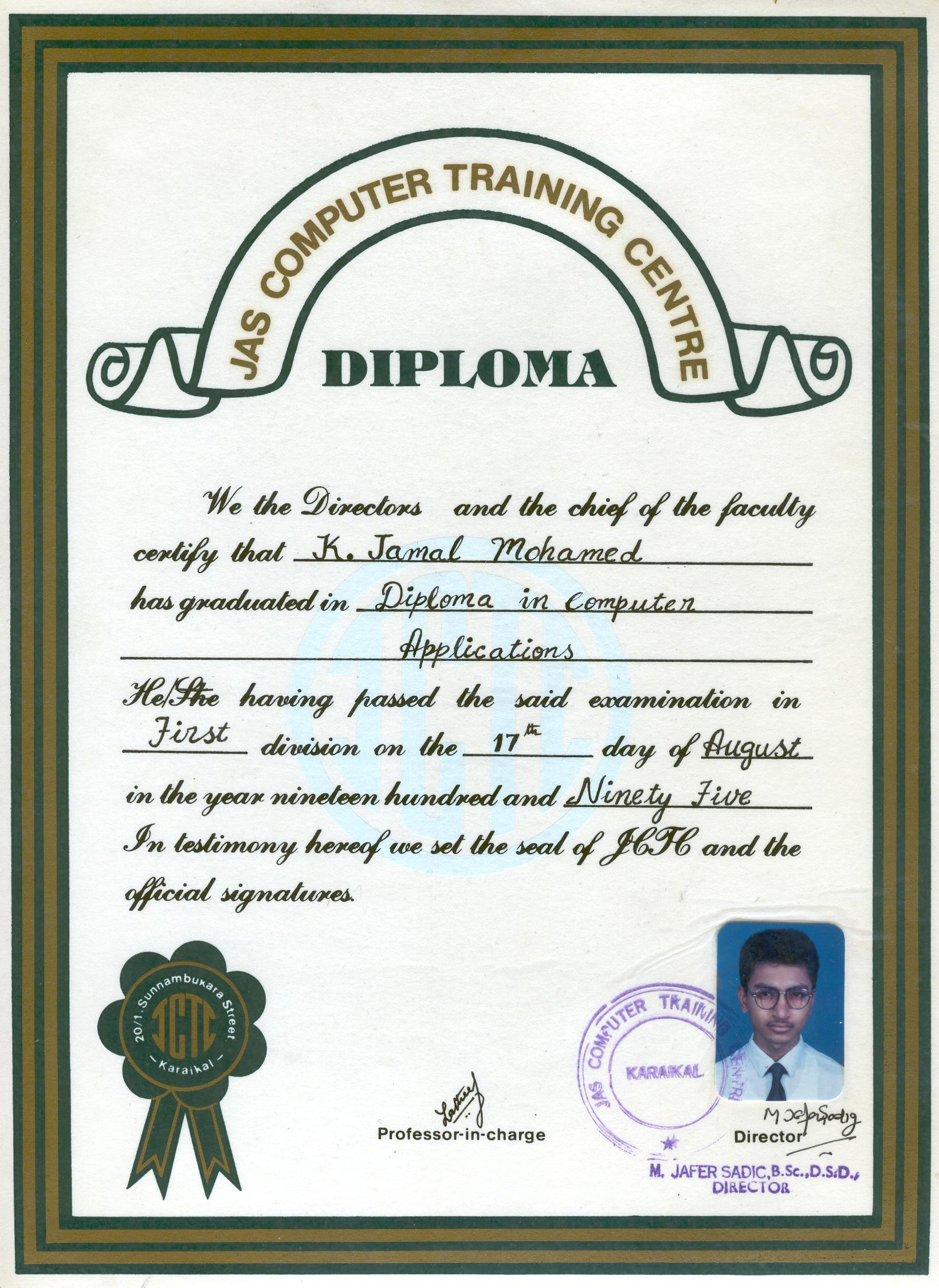 Achievements one year diploma in computer applications 1betcityfo Image collections